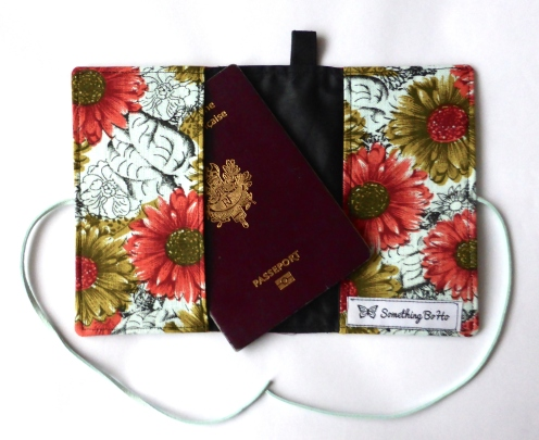 boho flowers passport cover